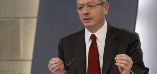 Ex ministro español de Justicia, Alberto Ruiz Gallardón | Foto referencia