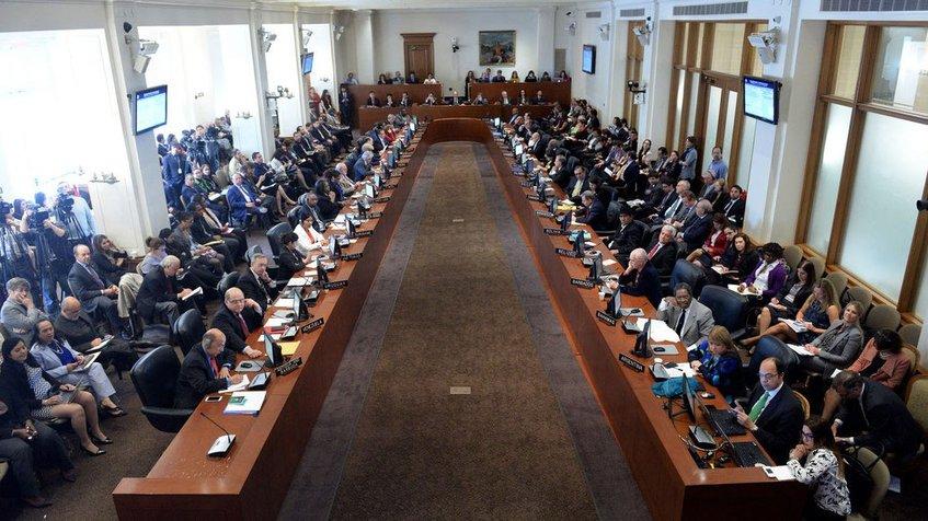 OEA analiza este jueves si caso de Venezuela va a la Corte Penal Internacional |  Imagen: twitter OEA