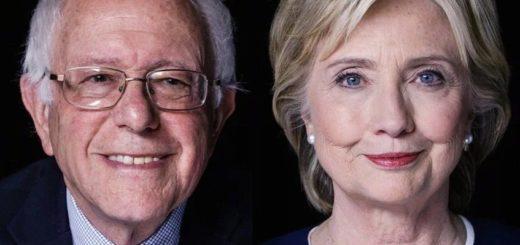 Sanders y Clinton