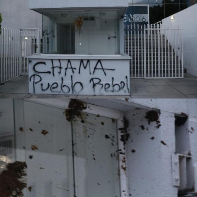 Ataques contra la sede de El Nacional