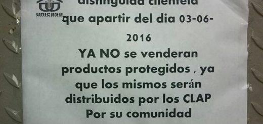 Algunos automercados privados colocaron ayer en sus establecimientos un aviso en el que notificaron que no venderán más productos regulados ya que solo serán vendidos en los Comités Locales de Abastecimiento Popular.