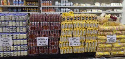 Productos colombianos en supermercado en Maracaibo