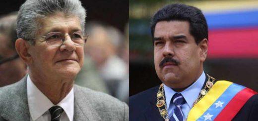 Henry Ramos Allup - Nicolás Maduro | Foto referencial