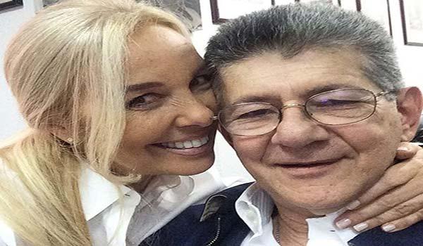 Diana D'Agostino y Henry Ramos Allup Foto: El Nacional