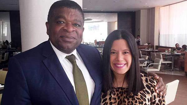 Hija de Manuel Rosales junto a Martin Chungong|Foto: Unión Radio