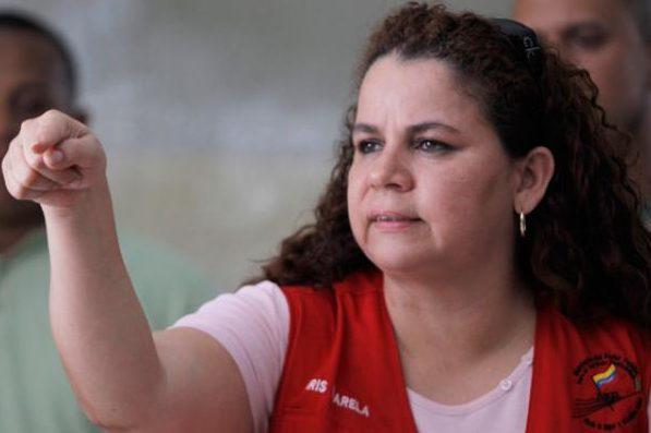 Iris Varela, ministra para asuntos penitenciarios  Foto referencial