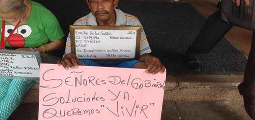 Pacientes protestan en el HUC/Foto: @Unidadvenezuela