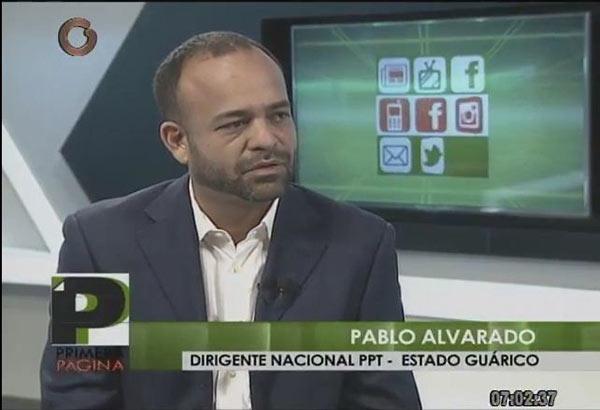 Pablo Alvarado, presidente al Consejo Legislativo de Guárico   Imagen: Captura de video - Globovisión