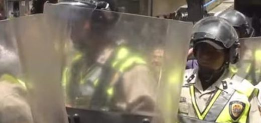 Contingente antimotín de la Policía Nacional Bolivariana (PNB) | Foto: Captura de video