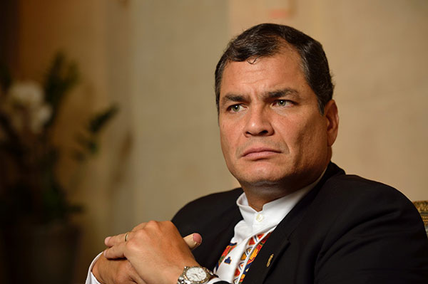 Rafael Correa, presidente de Ecuador | Foto: EFE