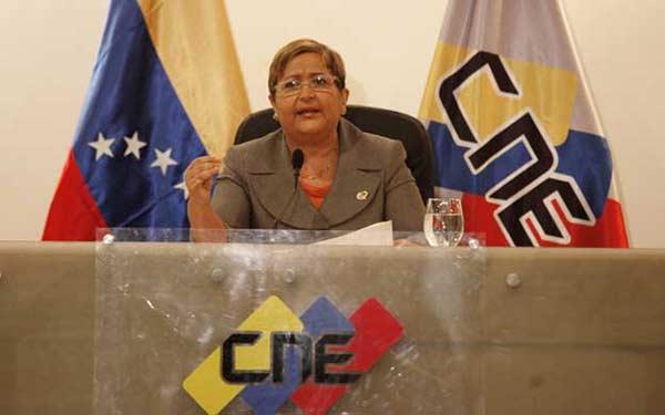 Tibisay Lucena, presidenta del CNE |Foto referencia