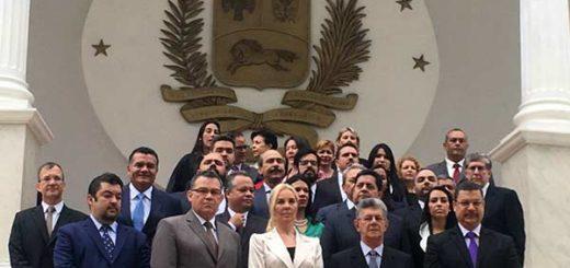 Diputados ante la Asamblea Nacional | Foto: @delsasolorzano