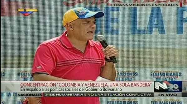 Jorge Rodríguez desde movilización de colombianos en Venezuela | Foto: @TVesAlDia