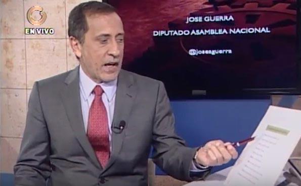 Diputado a la Asamblea Nacional, José Guerra|Captura de video
