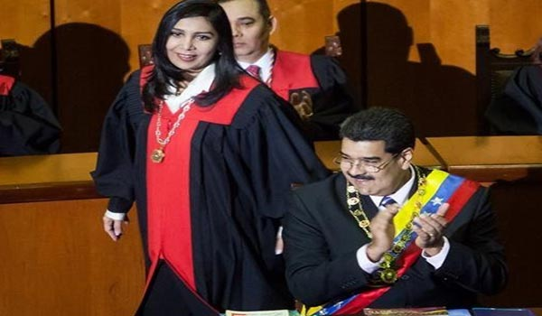 Gladys Gutiérrez y Nicolás Maduro