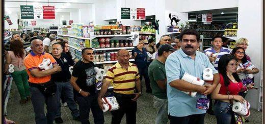 Foto montaje donde aparecen los oficialistas comprando en Cúcuta