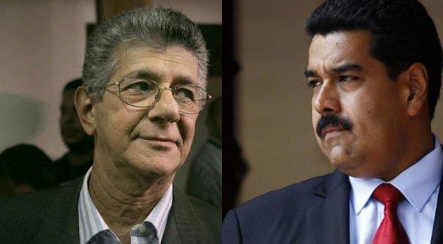 Ramos Allup y Nicolás Maduro  Imagen: TalCualDigital
