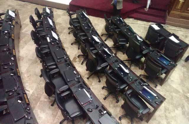 Las sillas Curules de la bancada oficialista |Foto: Jennyré Hernández