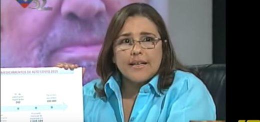 Luisana Melo, Ministra para la Salud |Captura de video