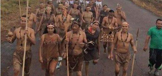 Sebin impide la caminata de los indígenas que se dirigen hacia Caracas |Foto Cortesía