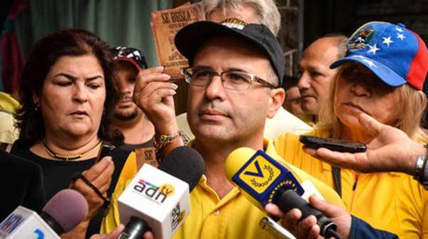 El diputado por la Mesa de la Unidad Democrática, Jorge Millán| Foto: El Nacional