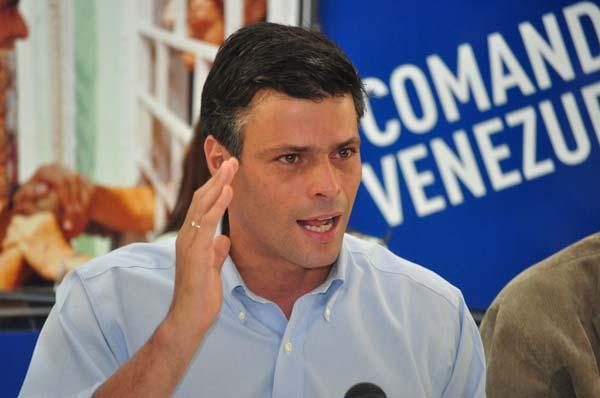 Leopoldo López, condenado a casi 14 años de cárcel Foto: archivo