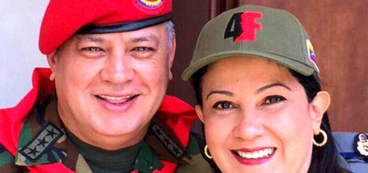 Imagen: Diosdado Cabello y Marleny Contreras