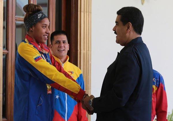 imagen: Nicolás Maduro y Yulimar Rojas