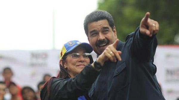 Nicolás Maduro y Cilia Flores  Foto: El Nacional