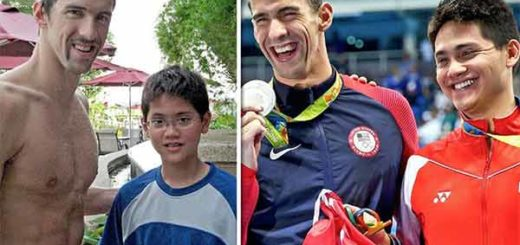 Michael Phelps y Joseph Schooling | Foto: Siente América