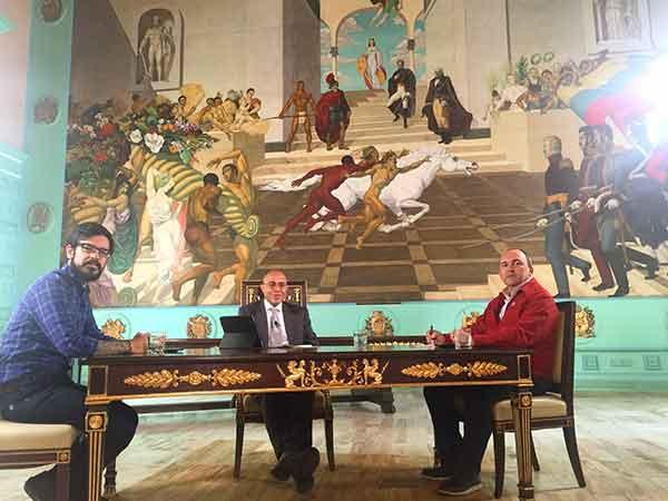 Miguel Pizarro (Unidad) y Francisco Torrealba (Psuv) en el programa Vladimir a la 1 | Foto: @Vladimirala1_gv