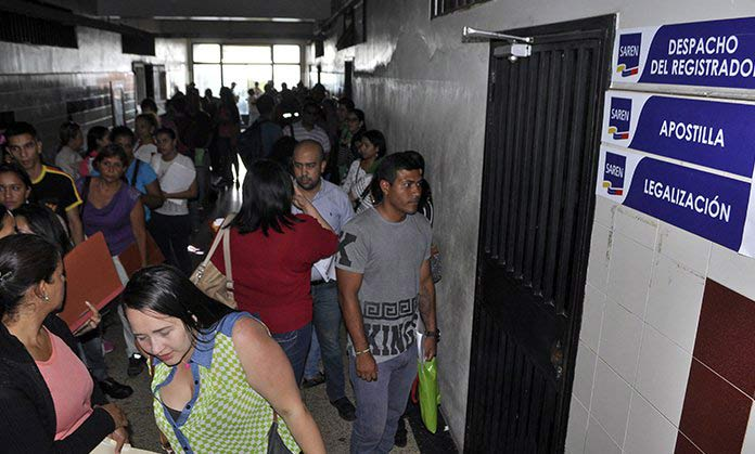 Venezolanos a la espera de emigrar  Foto: El impulso