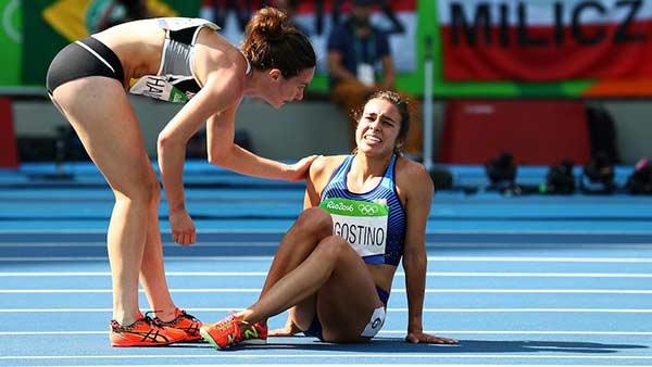 Nikki Hamblin y Abbey D'Agostino | Foto: Ian Walton / Getty Images
