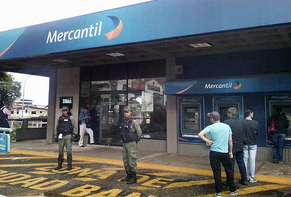 Banco Mercantil en Táchira   Foto: La Nación