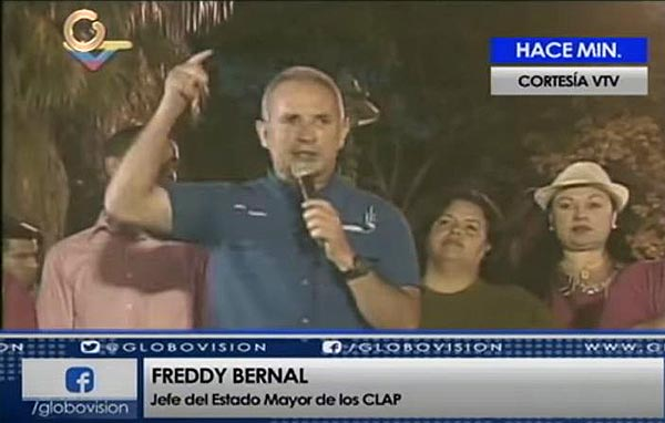 Freddy Bernal   Foto: Captura de video