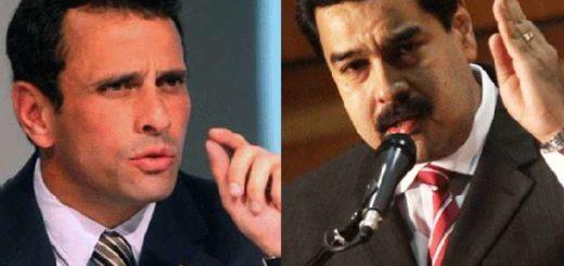 Henrique Capriles y Nicolás Maduro | Foto: capital.cl