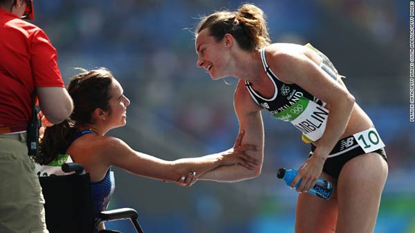 Nikki Hamblin y Abbey D'Agostino | Foto: Patrick Smith / Getty images