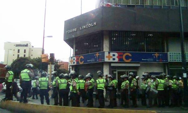 Despliegue de uniformados en Caracas |Foto: unidad venezuela