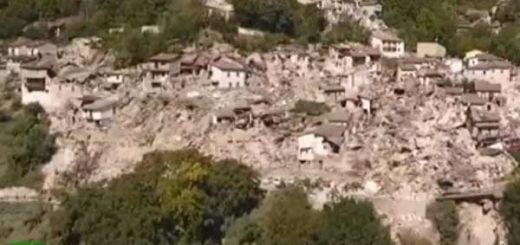imagen: Drone captura imágenes en video luego del terremoto de Italia