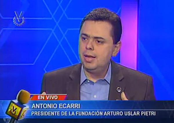 Antonio Ecarri, presidente de la fundación Arturo Uslar Pietri   Foto: captura