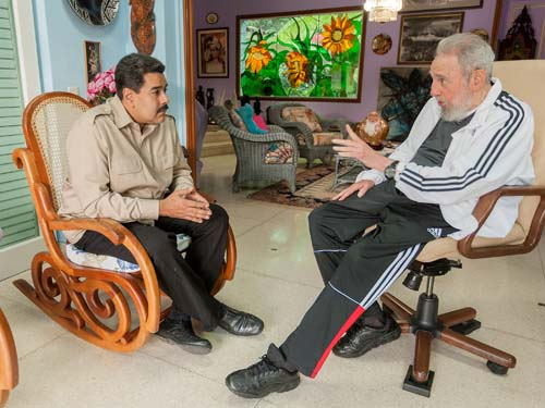 Resultado de imagen para Nicolas maduro y Fidel castro
