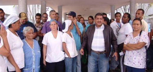 Trabajadores del Hospital Clínico protestaron |Foto Cortesía