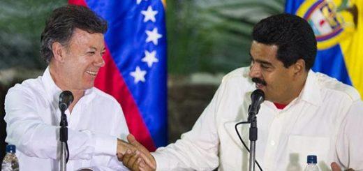 Nicolás Maduro y Juan Manuel Santos | Foto: EFE