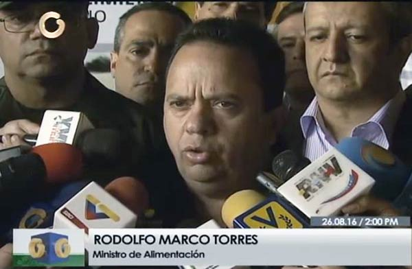 Ministro de Alimentación, Rodolfo Marco Torres  Foto: Captura de video