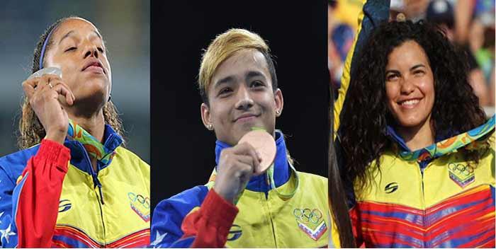 Atletas venezolanos ganadores de medallas en Río 2016 | Foto: composición Notitotal