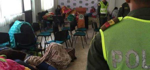 Mujeres recluidas en la Sede de Migración Colombia