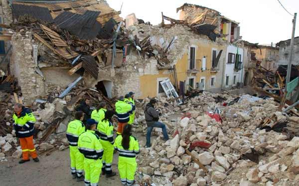 imagen: terremoto en Italia