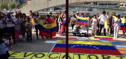 Venezolanos en Bilbao, españa