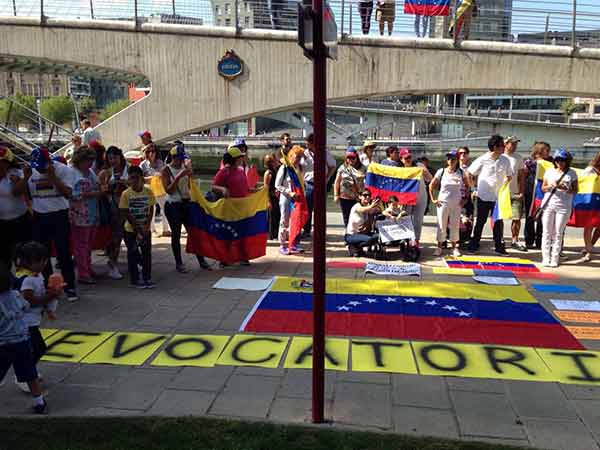 Venezolanos en Bilbao, españa |Foto cortesía