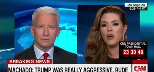 Anderson Cooper / Alicia Machado en entrevista a CNN | Foto: Captura de video